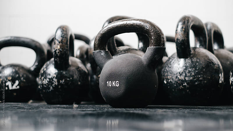 Kettlebell weights by Branislav Jovanović for Stocksy United