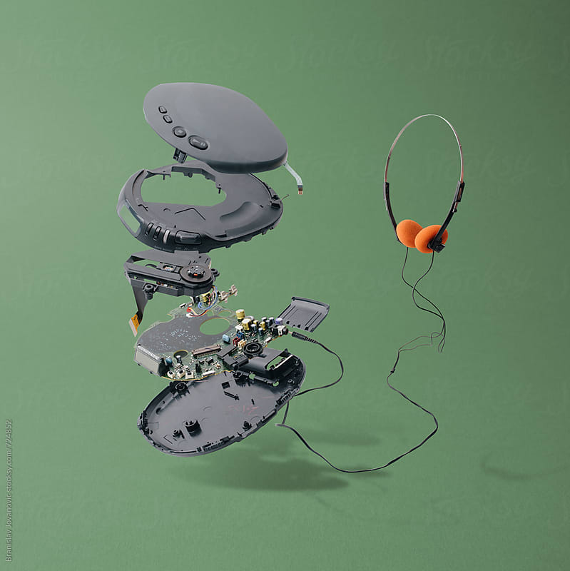 Disassembled Portable CD Player by Branislav Jovanović for Stocksy United