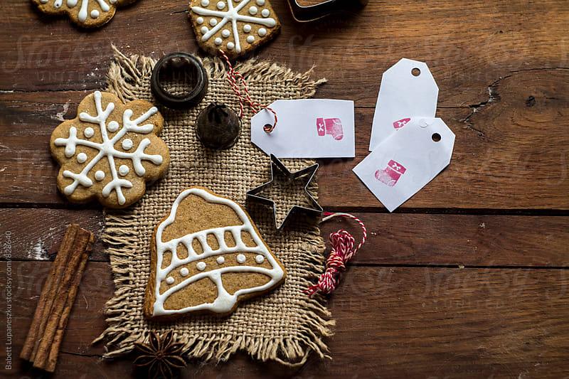 Preparing Gingerbread cookies by Viktorné Lupaneszku for Stocksy United