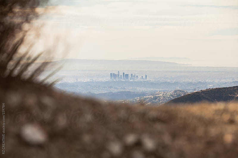 Unique view of downtown Los Angeles. by RZ CREATIVE for Stocksy United