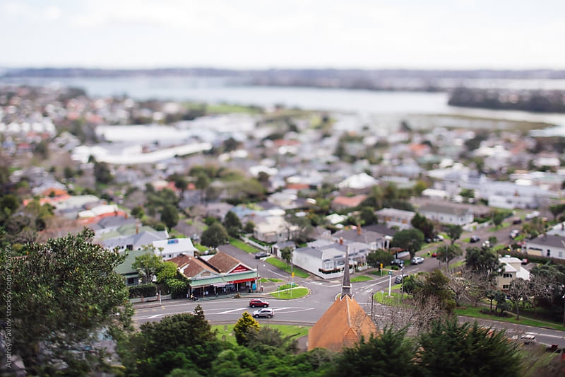 Miniature view of Devonport, New Zealand by Andrey Pavlov for Stocksy United
