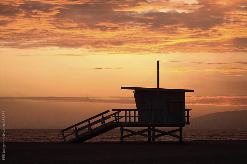 California life guard tower by Per Swantesson for Stocksy United