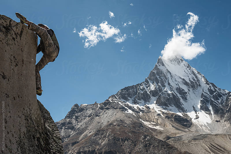 man climbing  by RG&B Images for Stocksy United