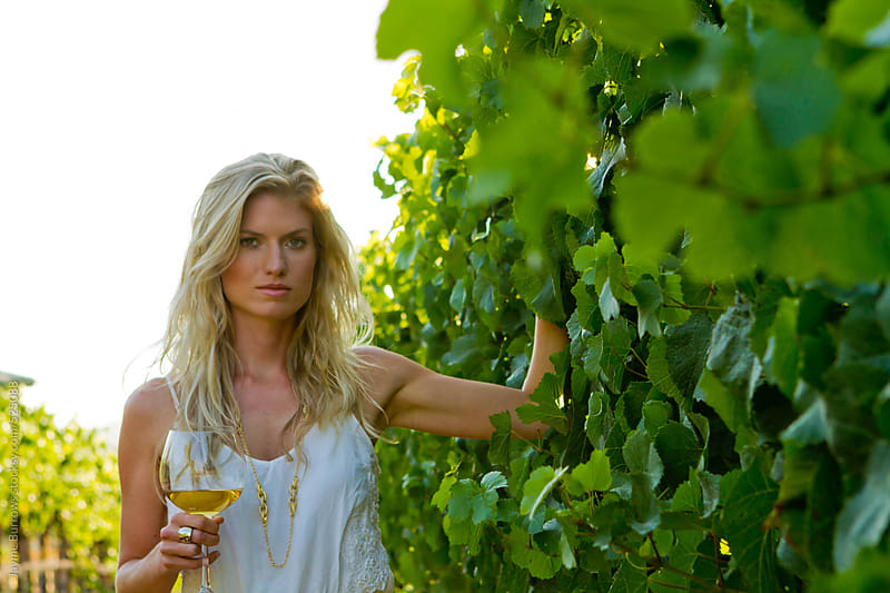 Beauty with Wine by Jayme Burrows for Stocksy United
