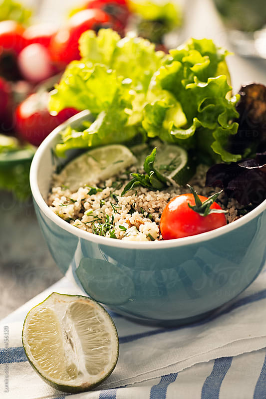Couscous With Lettuce and Vegetables by Lumina for Stocksy United