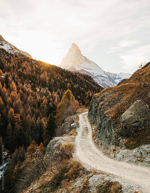 Path to Matterhorn, Switzerland by Kevin Faingnaert for Stocksy United