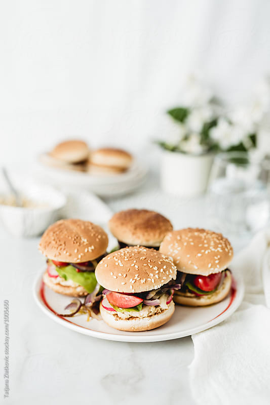 Vegan sandwiches by Tatjana Zlatkovic for Stocksy United