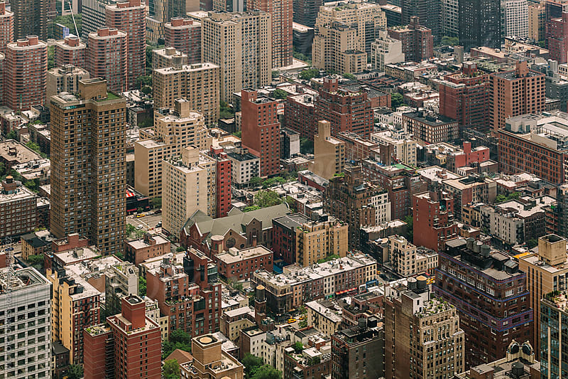 Aerial View of Manhattan Midtown by Victor Torres for Stocksy United