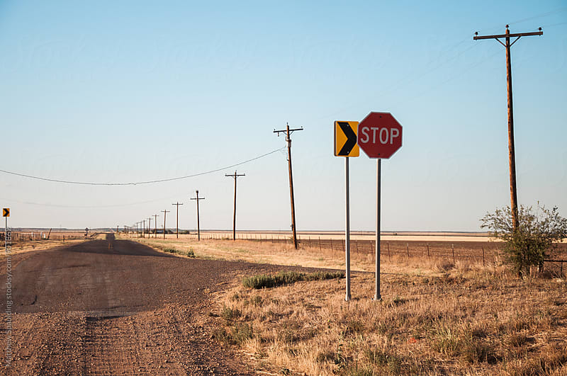 Remote dirt highway in central United States by Matthew Spaulding for Stocksy United