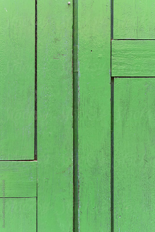 Old rusty green door by Bisual Studio for Stocksy United