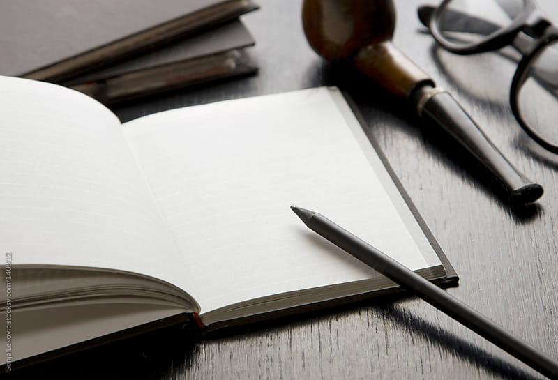 blank notebook by Sonja Lekovic for Stocksy United