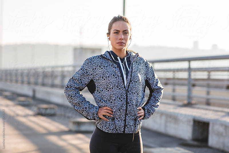 Portrait of a Fit Woman by Lumina for Stocksy United