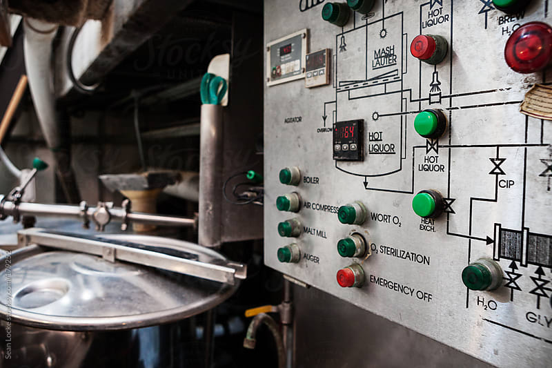 Beer: Microbrewery Processing Equipment Control Panel by Sean Locke for Stocksy United