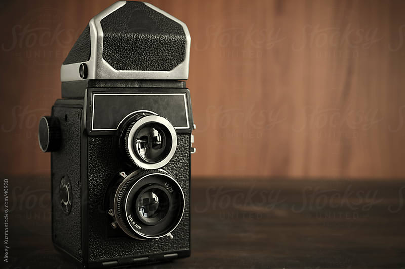 retro camera by Alexey Kuzma for Stocksy United