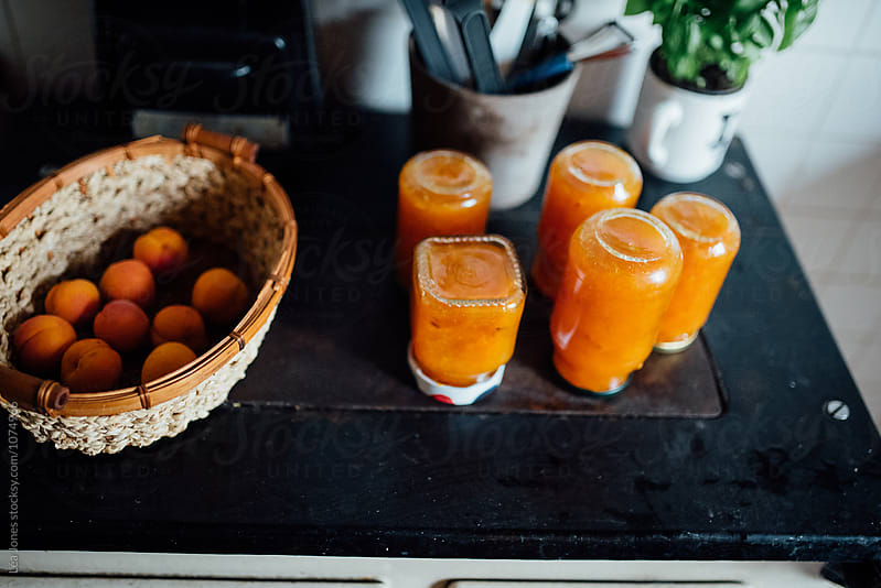 homemade apricot jam by Léa Jones for Stocksy United