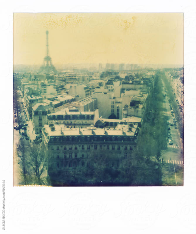 Polaroid Looking Across The City Of Paris, France Towards The Eiffel Tower by ALICIA BOCK for Stocksy United