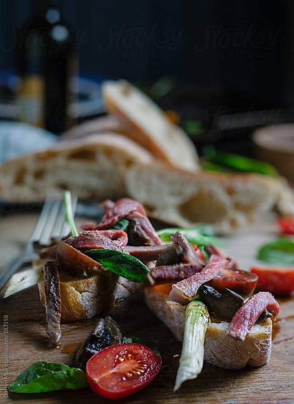 Steak ciabatta  by Darren Muir for Stocksy United