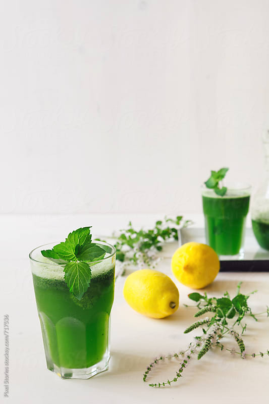 Frozen mint lemonade by Pixel Stories for Stocksy United