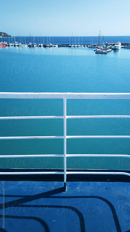 sea view from the boat at zakynthos greek island by Sonja Lekovic for Stocksy United