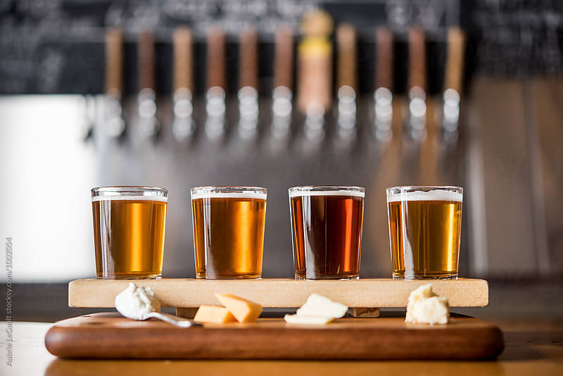 Beer & Cheese Tasting by Aubrie LeGault for Stocksy United
