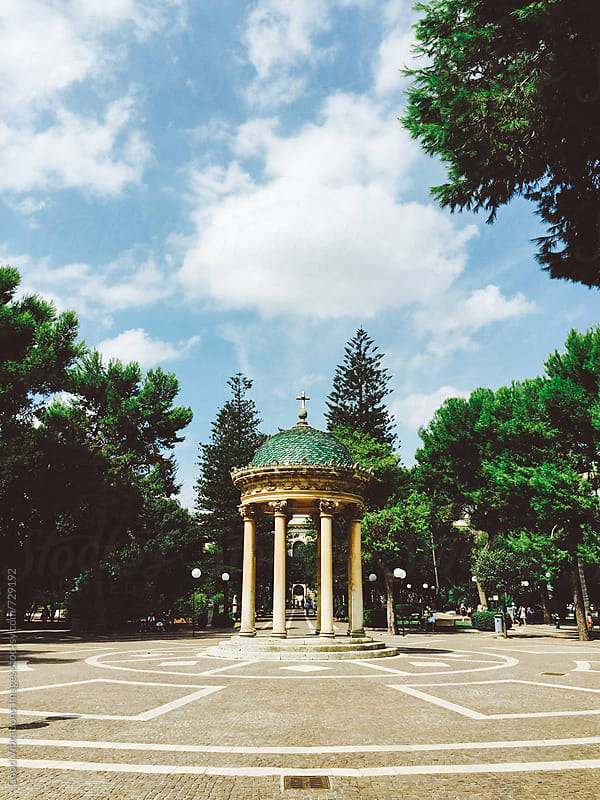 Public Gardens in the city of Lecce, Apulia by Good Vibrations Images for Stocksy United