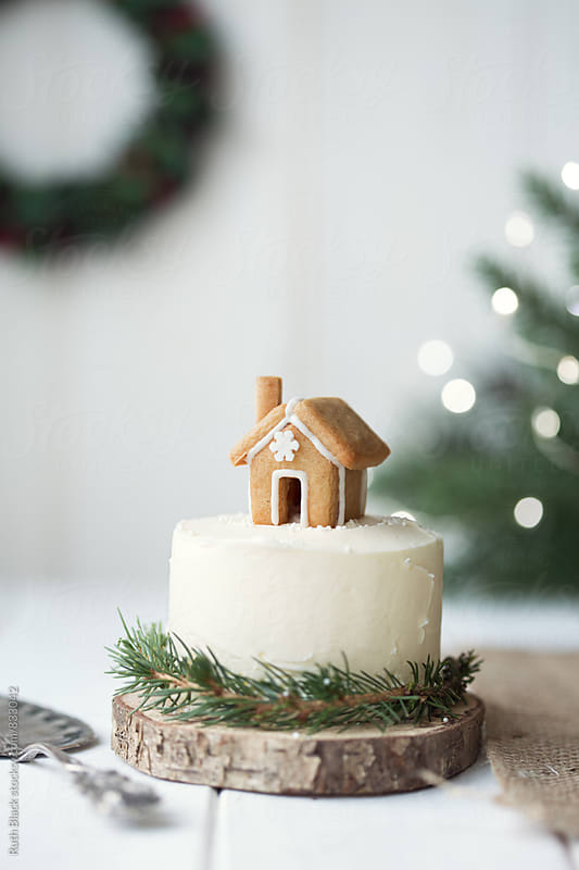 Christmas cake by Ruth Black for Stocksy United