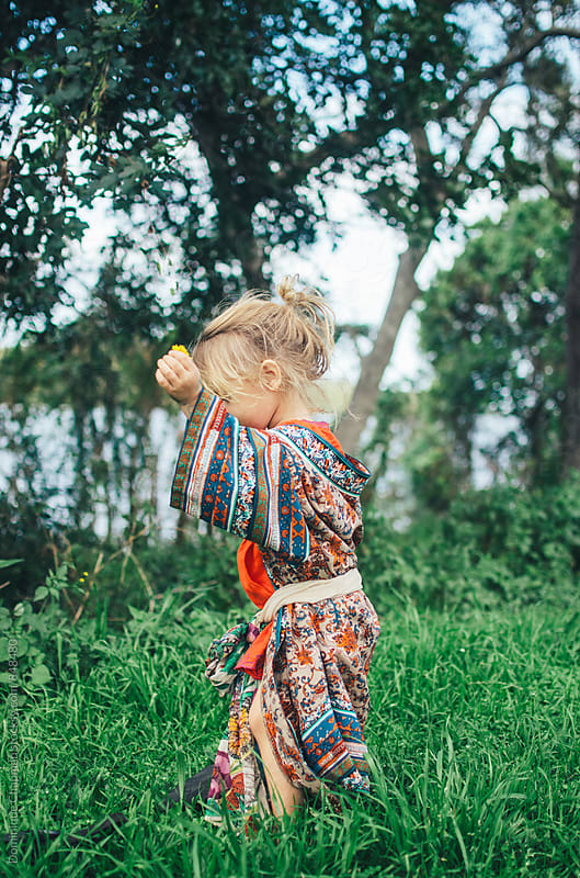 Little girl outdoors by Dominique Chapman for Stocksy United