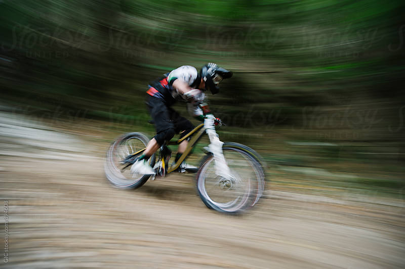 Downhill bike by GIC for Stocksy United