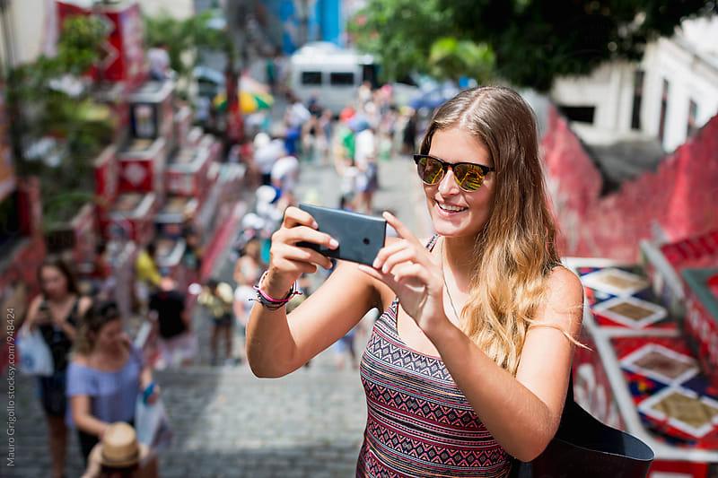 Woman visiting Rio de Janeiro. Brazil. by Mauro Grigollo for Stocksy United