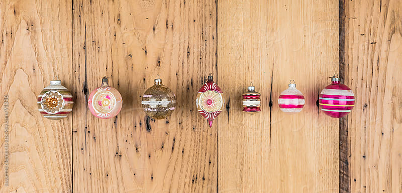 Collection of Christmas Season Ornaments and Decorations by suzanne clements for Stocksy United