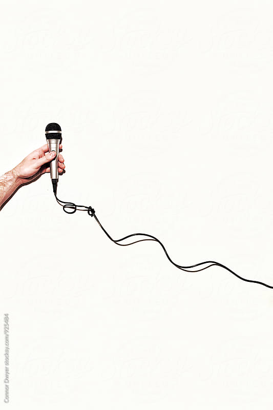 Holding the Mic by Connor Dwyer for Stocksy United