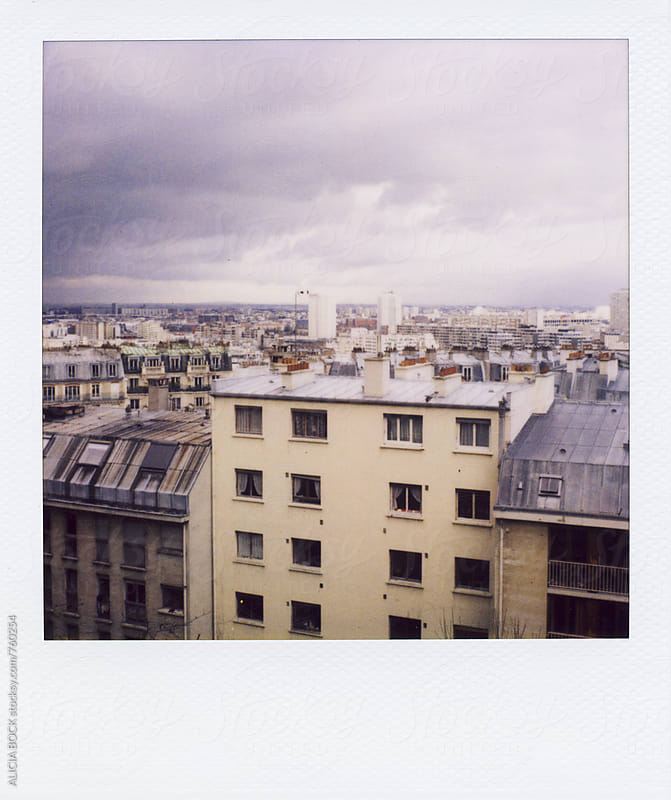 View Over Paris France Photographed On Polaroid Film by ALICIA BOCK for Stocksy United