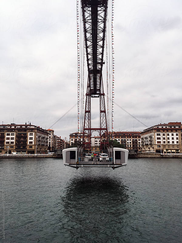 The Bizkaia suspension transporter bridge (Puente de Vizcaya) in Portugalete, Spain. by Luca Pierro for Stocksy United