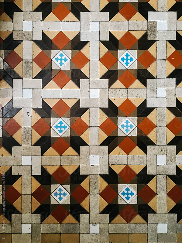 Colorful Spanish Tile by Sara K Byrne Photography for Stocksy United