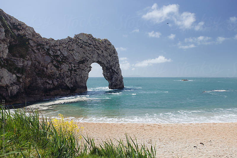 The famous rock arch at Durdle Door Dorset England UK by Robert Kohlhuber for Stocksy United