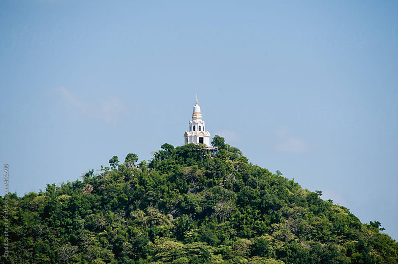 Pagoda on the mountain by Chalit Saphaphak for Stocksy United