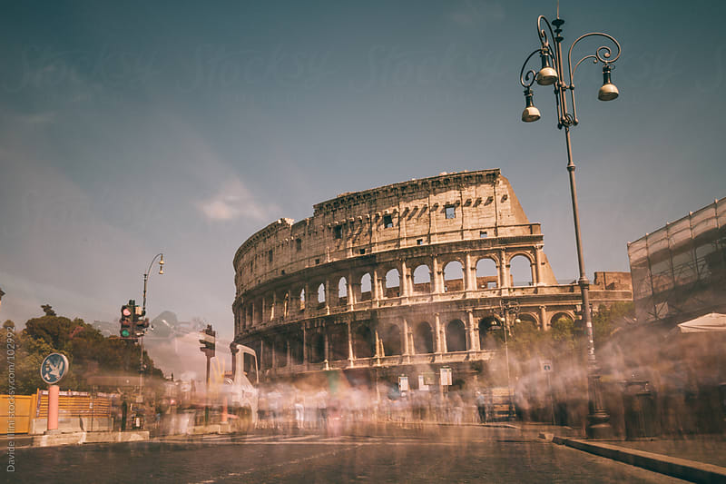 Colosseum in Rome, Italy by Davide Illini for Stocksy United