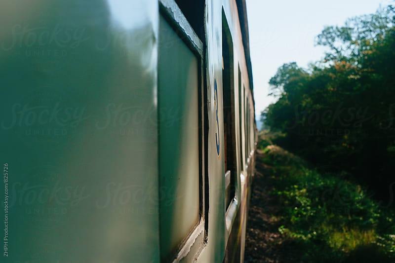 By train by Artem Zhushman for Stocksy United