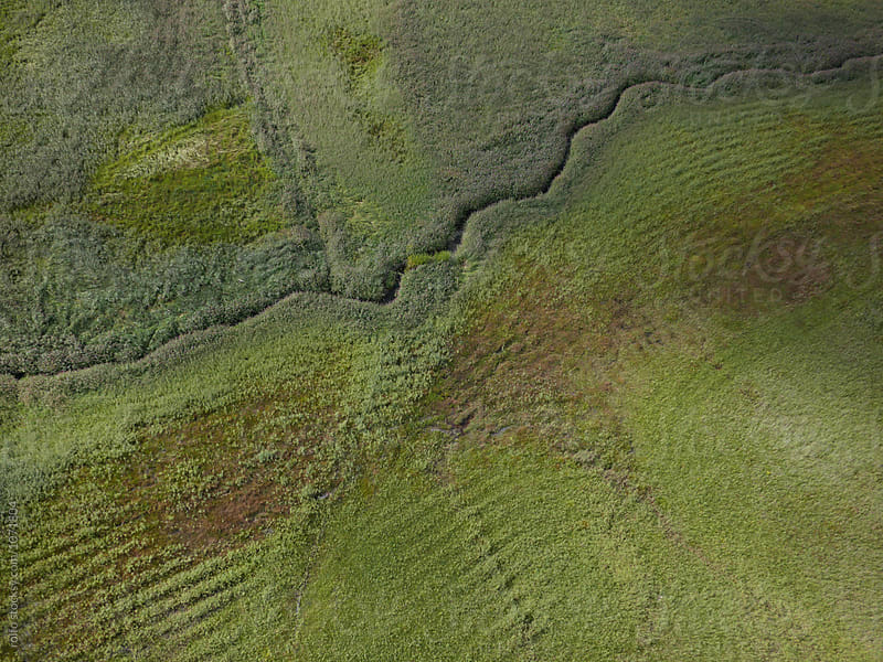 View on the landscape from drone by rolfo for Stocksy United