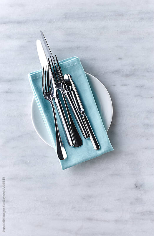 Fine dining cutlery by Paperclip Images for Stocksy United