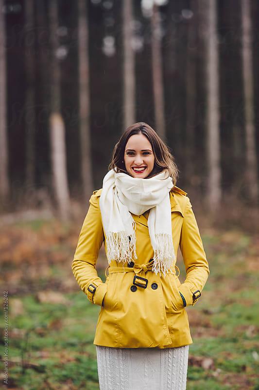 Happy women in autumn nature by Aleksandra Kovac for Stocksy United