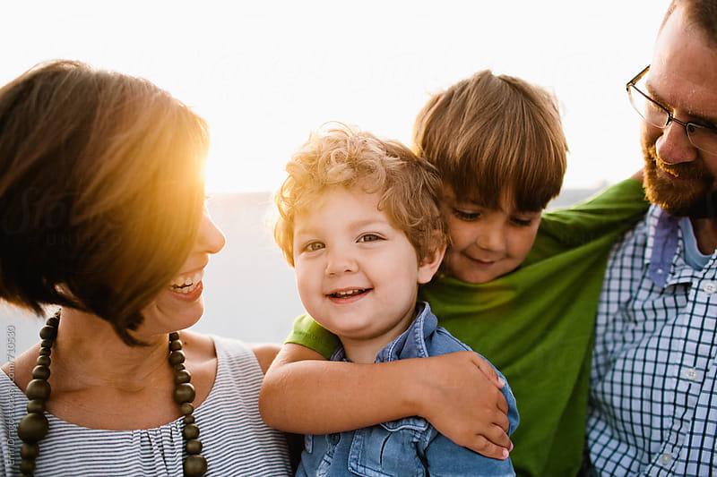 happy family by Erin Drago for Stocksy United
