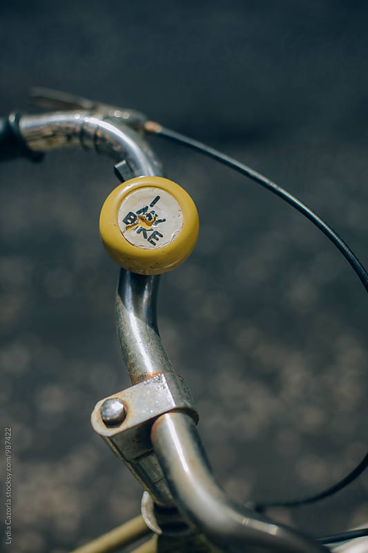 BIKE: bike's handlebar  with a vintage bell   by Lydia Cazorla for Stocksy United