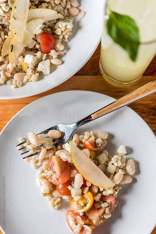 Barley & Bean Salad by Aubrie LeGault for Stocksy United