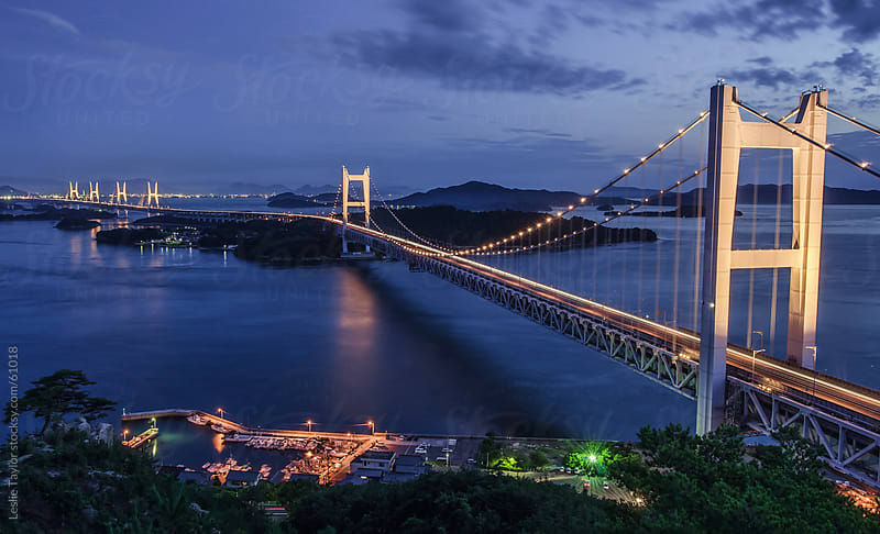The Seto Ohashi Bridge by Leslie Taylor for Stocksy United