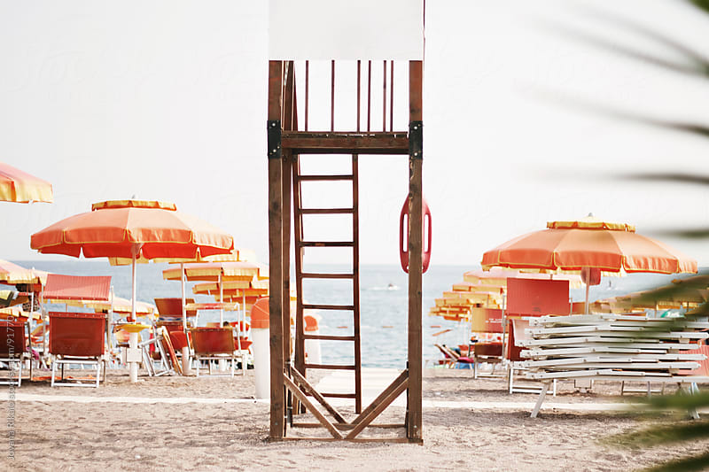 beach rescue tower by Jovana Rikalo for Stocksy United