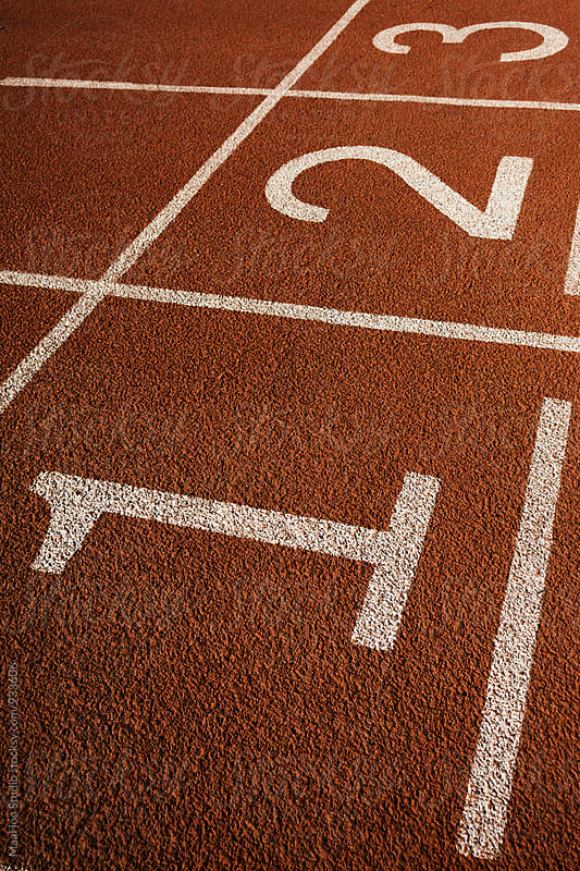 Numbers on running track by MaaHoo Studio for Stocksy United