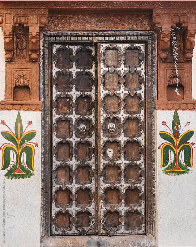 Carved Wooden Indian Door by Alexander Grabchilev for Stocksy United