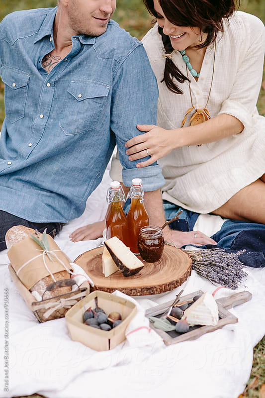 Romantic Picnic  by Brad and Jen Butcher for Stocksy United