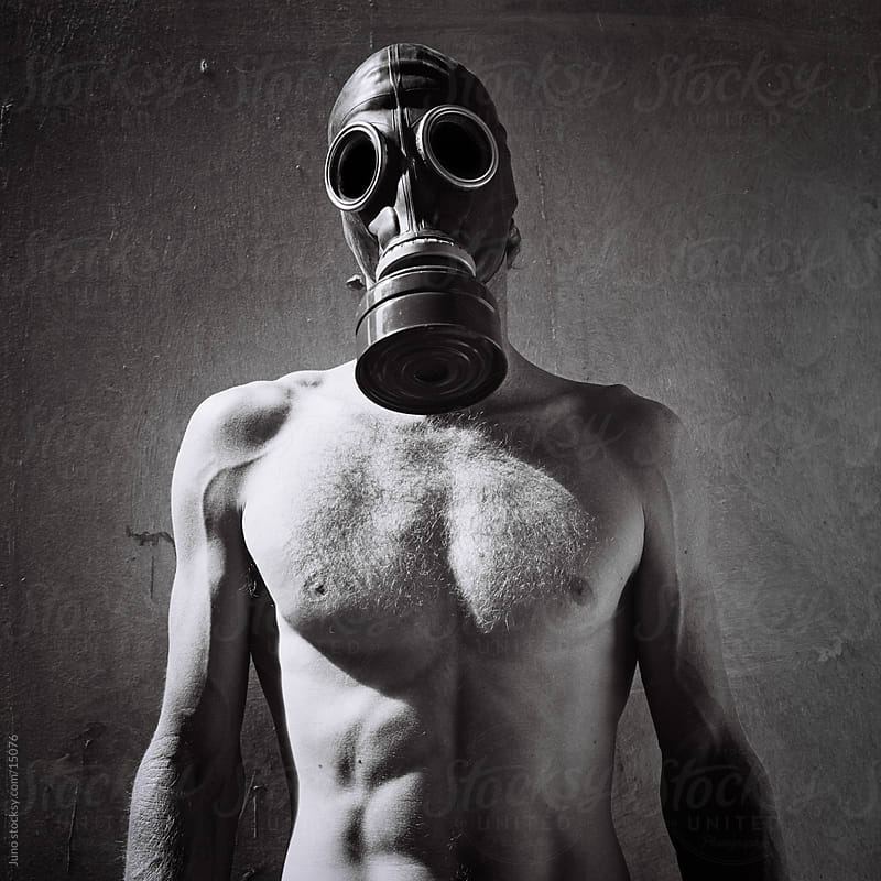 Post Apocalyptic Man in Gas Mask by Micky Wiswedel for Stocksy United